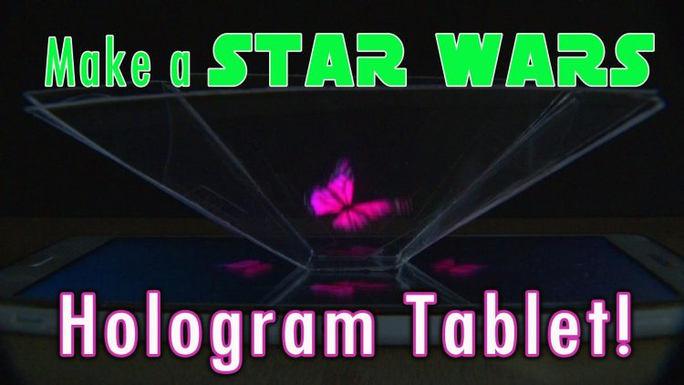 How to Make a Star Wars HologramTablet!