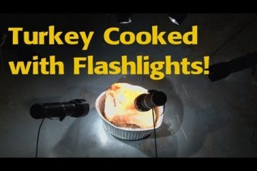 Thanksgiving Turkey Cooked with Flashlights!!