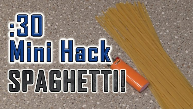 How To Light Fire With SPAGHETTI!