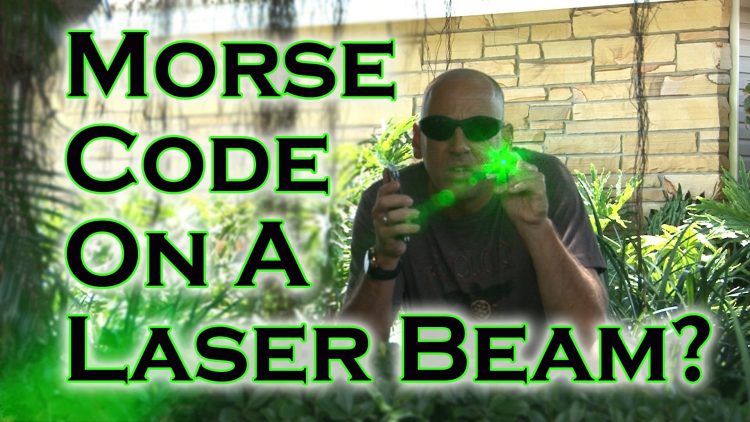 How to USe Morse Code On A Laser Beam!