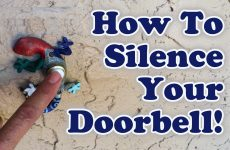 How to Silence Your Doorbell!