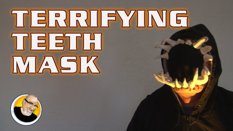 TERRIFYING TEETH MASK for Halloween!