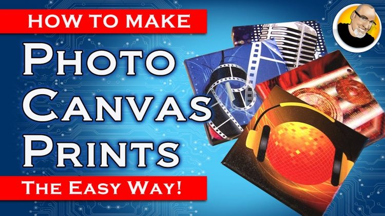 How to Make PHOTO CANVAS PRINTS for Gifts!